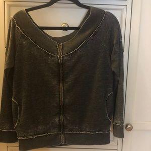 Sweaters - Over shoulder sweatshirt